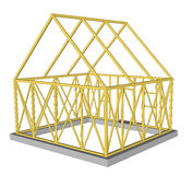 Vector  Structure of house in construction. Royalty Free Stock Photo