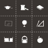 Vector study icon set Royalty Free Stock Images
