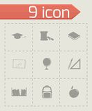 Vector study icon set Royalty Free Stock Photography