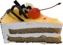 Vector stuk van cake Royalty-vrije Stock Foto