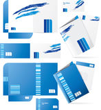Vector style folders Stock Photos