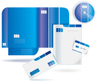 Vector style folders Stock Image