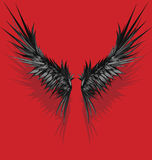 Vector style wings. Nice pair of styled wings with shadow vector illustration