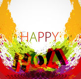 Vector Stylish beautiful holi festival text colorf Stock Photography