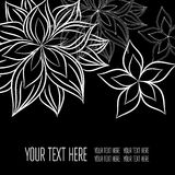 Vector stylish black floral background Stock Photos