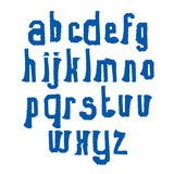 Vector stylish brush lowercase letters, handwritten font, wavy t Stock Photo