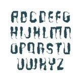 Vector stylish brush uppercase letters, handwritten font, sans s Stock Photo