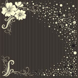 Vector stylish Floral vintage background Stock Photography