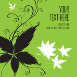 Vector stylish green floral background Stock Image