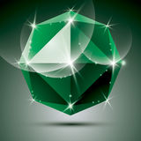 Vector stylish illustration, shiny emerald effect, eps10. Celebr Stock Photos