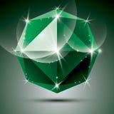 Vector stylish illustration, shiny emerald effect, eps10. Celebr Stock Photos