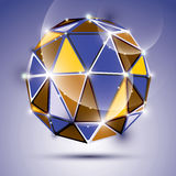 Vector stylish illustration, shiny jewel effect, eps10. Gala 3D Stock Photo