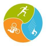 Vector stylish logo for triathlon Stock Images