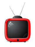 Vector stylish TV Royalty Free Stock Images