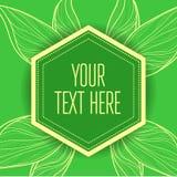 Vector stylish vintage floral green background royalty free illustration