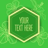 Vector stylish vintage floral green background stock illustration