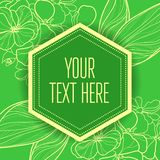Vector stylish vintage floral green background vector illustration