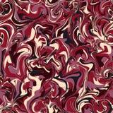 Vector Stylization des Marmorpapiers, nahtloses Muster mit mutigem O Stockbilder