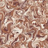 Vector stylization of marble paper, seamless pattern with bold o Stock Photography