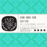 Vector stylization of vintage label design Stock Photo