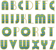 Vector stylized alphabet Royalty Free Stock Image