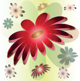 Vector stylized big red flower Royalty Free Stock Photo