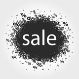 Stylized sign sale. Vector stylized black and white sale sign Royalty Free Stock Images