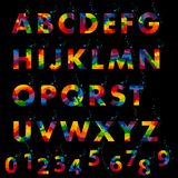 Vector of stylized colorful font and alphabet Royalty Free Stock Images