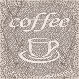 Vector stylized cup of coffee with beans Stock Images