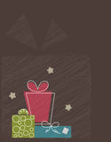 Vector stylized gifts Stock Images