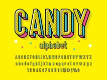 Candy font stock illustration