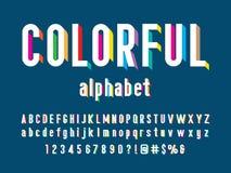 Colorful font stock illustration