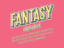 Fantasy font royalty free illustration