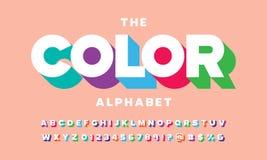 Stylized font stock illustration
