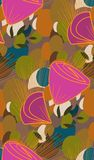 Vector stylized modern seamless floral pattern scandinavian stock illustration