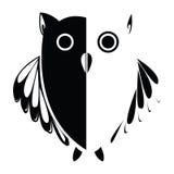 Vector stylized owl, background illustration Royalty Free Stock Photo