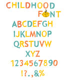 Vector of stylized paint-like alphabets Stock Images