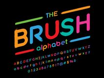 Paintbrush font vector illustration
