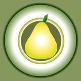Vector stylized pear Royalty Free Stock Photo