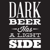 Vector stylized quote on the topic of beer. White text on a black background.  stock illustration