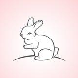 Vector stylized rabbit Stock Photos