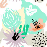 Vector stylized seamless pattern background hand-drawn illustration. Simple shape, bright pattern. Vector stylized background hand-drawn illustration. Simple Stock Image