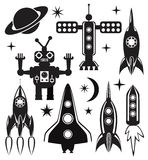 vector stylized space symbols Royalty Free Stock Images