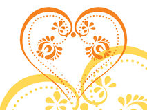 Vector stylized tattoo tribal heart Stock Photo