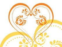 Vector stylized tattoo tribal heart Stock Photo