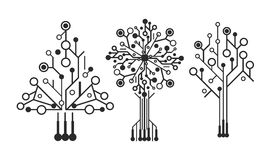 Logo scheme. Vector stylized trees matrix scheme Royalty Free Stock Image