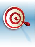 Vector success. Arrow in the red bulls eye Stock Image