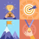 Vector success concepts - victory Royalty Free Stock Photography