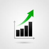 Vector success graph Stock Image