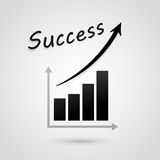 Vector success graph. Vector illustration of financial success graph concept Stock Photos